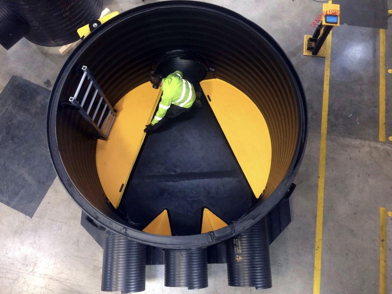 Tube polyéthylène pour les réseaux d'assainissement