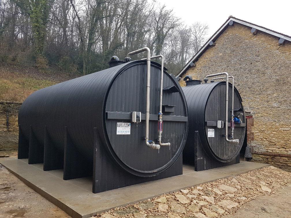 Citerne plastique pour les effluents agricoles ou industriels