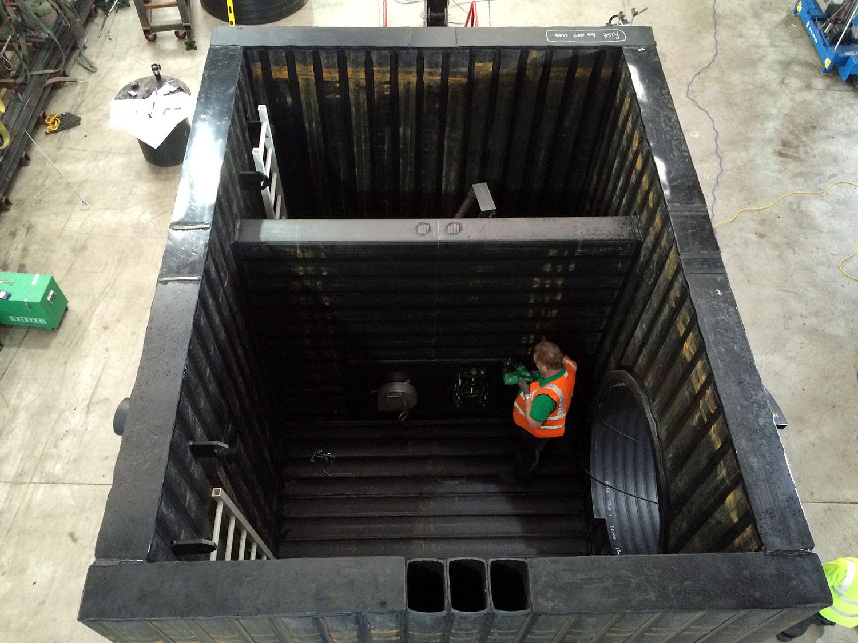 Construction de stations & réservoirs en polyéthylène