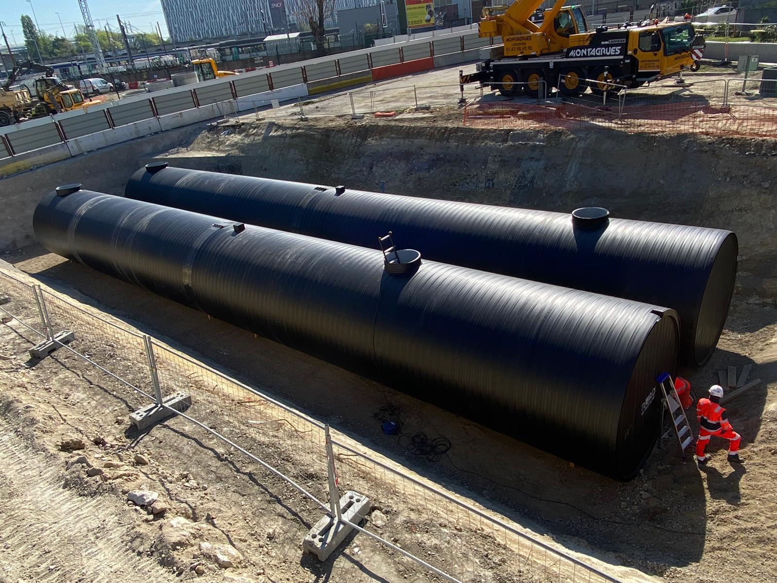Bassin Hydraulique PEHD-aménagement de l'échangeur Pleyel